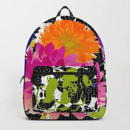 Floral on Black Shadows Backpack
