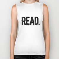 read Biker Tanks featuring Read. by Art Show For A Cause Gallery + Products