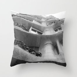 Curves and Ironwork Throw Pillow