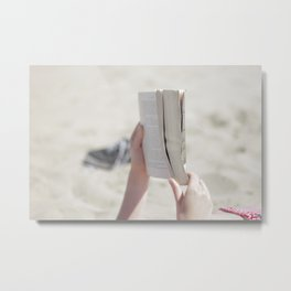 Beach Book Metal Print