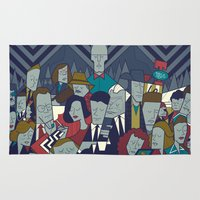 twin peaks Area & Throw Rugs featuring Twin Peaks by Ale Giorgini