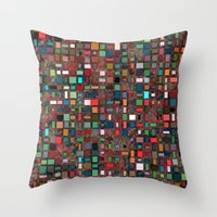 mosaic Throw Pillows featuring Mosaic by Lyle Hatch
