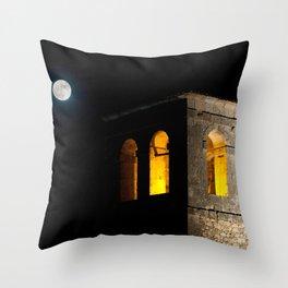 Church & moon Throw Pillow