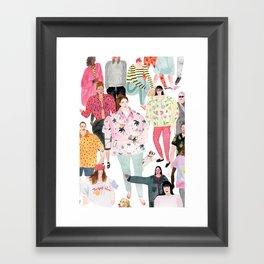 people (original) Framed Art Print