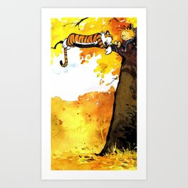 Calvin cartoon Art Print
