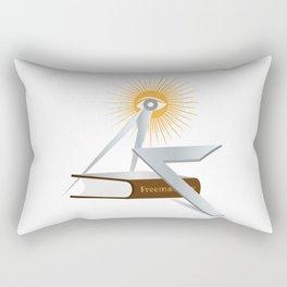 Freemasonry symbols Rectangular Pillow