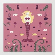 Mermaid Love take two Canvas Print