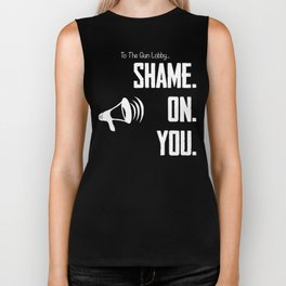 Gun Lobby Shame On You Gun Control Shirt Biker Tank