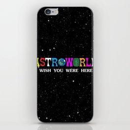 Astroworld - wish you were here iPhone Skin
