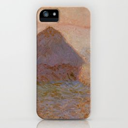 Grainstack, Sun in the Mist by Claude Monet iPhone Case