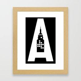 Artcotechsure: The A (black) Framed Art Print