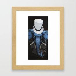 Classy elephant Framed Art Print
