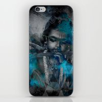 hindu iPhone & iPod Skins featuring Krishna The mischievous one - The Hindu God by sarvesh