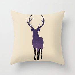 Star Night Deer Throw Pillow