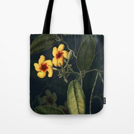 Night Yellow Flower Tote Bag
