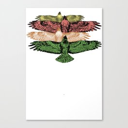 HAWKS IN UNISON Canvas Print