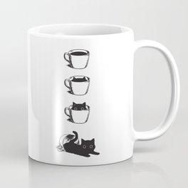 Morning Coffee, Cat in A Cup Coffee Mug