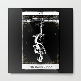 The Hanged Man Tarot Card Design Metal Print