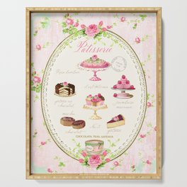 Pink Patisserie Rose Serving Tray