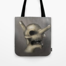 Skull and fingers Tote Bag
