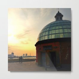 Greenwich Foot Tunnel Sunset Metal Print