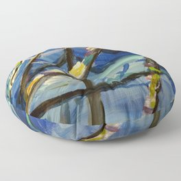 Abstract Expressions Nature Floor Pillow