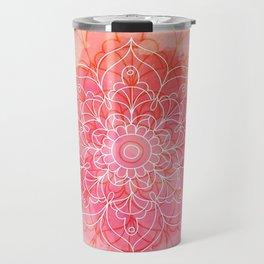 Pink Watercolor Mandala #lifestyle #society6 Travel Mug