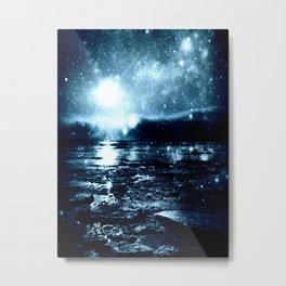 Icy Blue Mystic Waters Metal Print