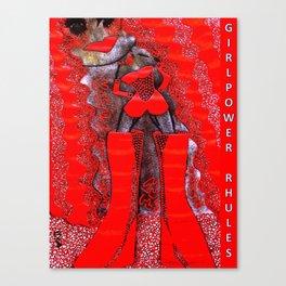 pOOs star of #GirlPower Rhules: from original tetkaART Canvas Print