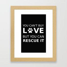 Animal rescue love Framed Art Print
