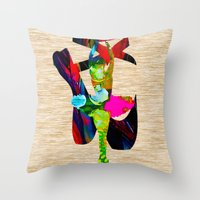 ballet Throw Pillows featuring Ballet by marvinblaine