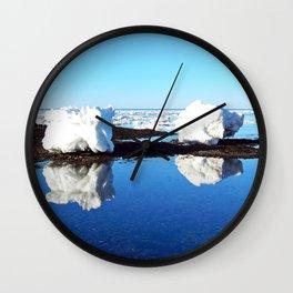 Baby Icebergs on the Tidal Shelf Wall Clock