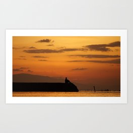 Sunset on my mind2 Art Print