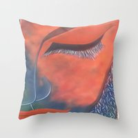 musa Throw Pillows featuring La Musa by Alme