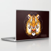 thundercats Laptop & iPad Skins featuring Geometric Tiger by chobopop