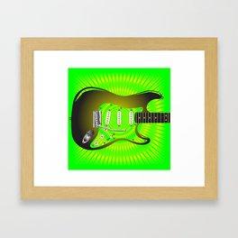 Splash Guitar Framed Art Print