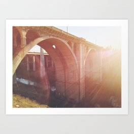 Sunlight & Arches. Art Print