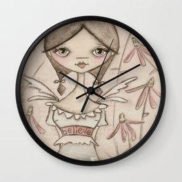 Believe Fairy Wall Clock