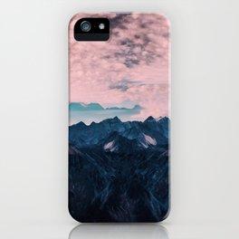 Pastel mountain mood iPhone Case
