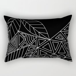 Abstract black and white pattern. Orange juice . Rectangular Pillow
