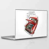 mini cooper Laptop & iPad Skins featuring Mini Cooper Classic in Red by Swasky