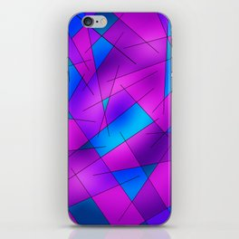 ABSTRACT LINES #1 (Purples, Violets, Fuchsias & Turquoises) iPhone Skin