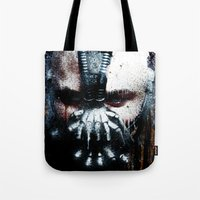 bane Tote Bags featuring Bane: Rise by Sirenphotos