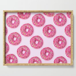 Pink Donuts Serving Tray