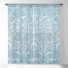Mandala String Theory of Aqua Sheer Curtain