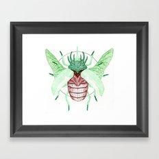 Thorned Atlas Beetle Framed Art Print