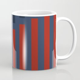 Vertically Red and Blue Coffee Mug