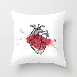 Anatomical heart - Art is Heart  Throw Pillow