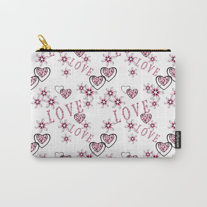 Openwork pattern with hearts. Carry-All Pouch