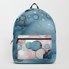 Becoming Abstract Painting Pink Blue Backpack